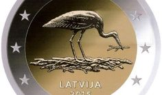 """Latvian 2 euro commemorative coin """"10 years of Black Stark Protection Plan in Latvia"""", year 2015."""