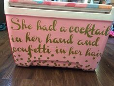 Cute painted cooler!