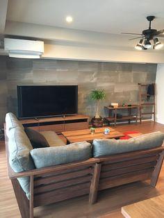 MASTERWAL マスターウォール 『100年後のアンティーク家具へ」 #MASTERWAL #マスターウォール #WALNUT #ウォールナット #家具 #interior #Furniture #インテリア #日本 #japan Living Room Furniture, Living Room Decor, Wooden Sofa Set Designs, Diy Furniture Plans, Sweet Home, New Homes, House Design, Interior, Home Decor