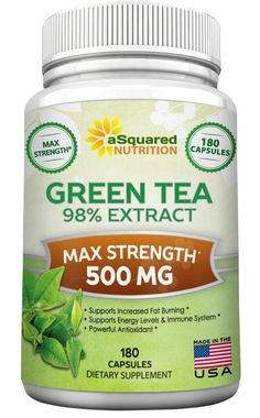 Green Tea Extract Supplement with EGCG - 180 Capsules - Max Potency Green Tea Fat Burner 500 mg Pills for Weight Loss, Boost Metabolism and Heart Health, All-Natural Low Caffeine Diet Detox Antioxidant >>> Startling review available here  : Weight Loss Herbal Supplements