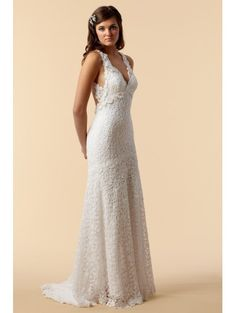 Love this cotton and lace dress.  Elegant, but sexy, and a little hippie chic.