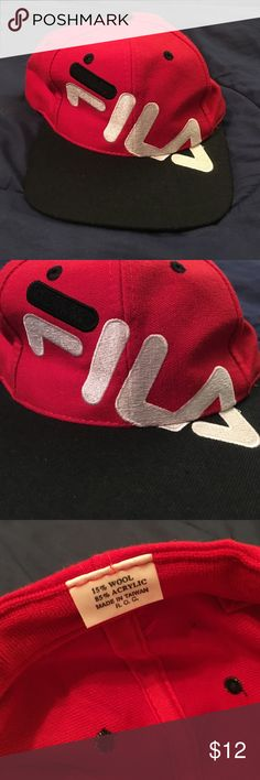 208179af94 Vintage FILA SnapBack Hat Great condition Fila hat! SnapBack style. Unique  and cool.