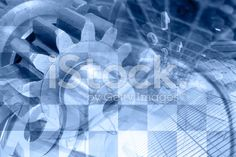 Business background with graph, gear and buildings, blue toned. Business Stock Photos, Global Business, Blue Tones, Abstract Photos, Royalty Free Stock Photos, Image