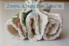 Zaaberry: Simple Washcloth Tutorial great idea for face washers or baby present