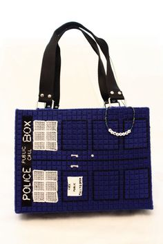 Handmade TARDIS Handbag inspired by Dr Who by punctureproductions, $60.00