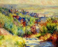 Pierre Renoir – The Hills of Trouville – 1886