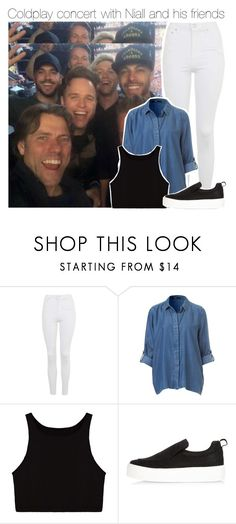 """Coldplay concert with Niall and his friends"" by smery09 ❤ liked on Polyvore featuring Topshop and River Island"