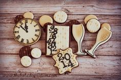 New Years Eve Cookies by The Baked Equation