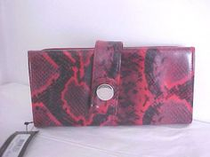 'New Kenneth Cole Reaction Python Red/Black Wallet' is going up for auction at  1pm Sun, Dec 29 with a starting bid of $8.