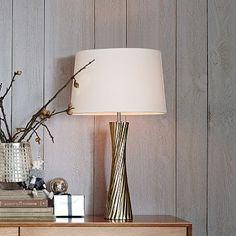 Fluted Metal Table Lamp - Taper #westelm