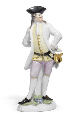 """A Meissen figure of """"Il Capitano Spavento"""" from the Weissenfels series,modelled by Peter Reinicke, circa 1744."""