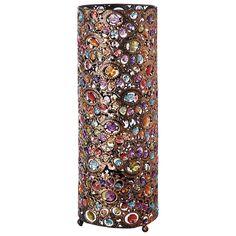 Lámpara de metal y metacrilato de colores Al. 48 cm MILLE ET UNE NUITS