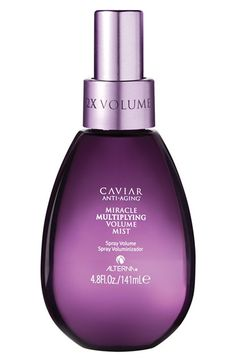 Free shipping and returns on ALTERNA® 'Caviar Anti-Aging' Miracle Multiplying Volume Mist at Nordstrom.com. Nourish, replenish and preserve hair with a long-lasting mist that delivers touchably soft style holding from root to to tip, while instantly doubling volume.How to use: Spray throughout clean, towel-dried hair prior to blow drying.