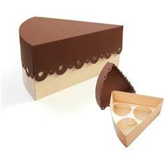 CAKE SLICE- CUPCAKE BOX