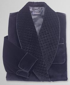 Velvet Smoking Jacket. These things double well as dressing gowns if you can find one soft enough.