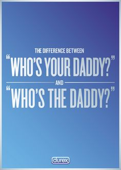 Tactical Fathers Day Ad for Durex by Willie Struwig, via Behance: Straight and to the point.