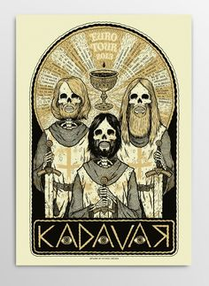 Michael Hacker Kadavar Tourposter 2013Not only is this peice AMAZING, this band is dope too!!