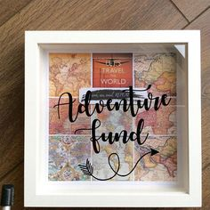 Money box adventure fund frame box frame moneybox holiday