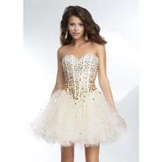 2015 Pink Beaded Ruffled Corset Back A Line Cocktail Dress via Polyvore featuring dresses, holiday cocktail dresses, bridesmaid dresses, evening cocktail dresses, evening dresses and homecoming dresses