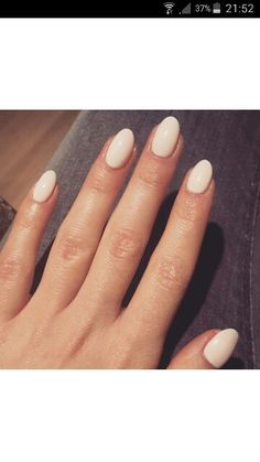 Nails nude almond