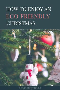 Christmas is a time of gifts, family, friends, food and festive fun. Make yours an eco-friendly Christmas so you can enjoy yourself without the guilt. Real Christmas Tree, Christmas Time, Christmas Cards, Local Craft Fairs, Christmas Ornament Crafts, In Season Produce, Secret Santa, Eco Friendly, Holiday Decor