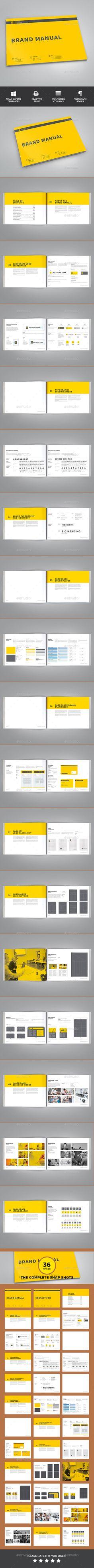 Brand Manual Template InDesign INDD #design Download: http://graphicriver.net/item/brand-manual/14229420?ref=ksioks