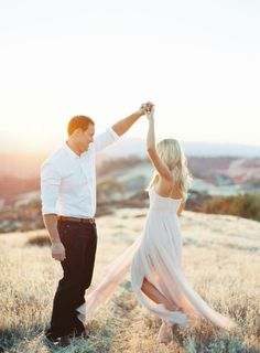 mood | dancing at sunset together | via: style me pretty