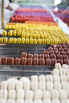 Rows of yummy macarons // via remain simple