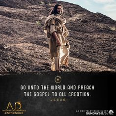 Spread The Word: an all new A.D. The Bible Continues debuts Sunday at 9/8c on NBC. | A.D. The Series