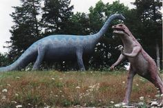 Dinosaur World. Beaver, Arkansas......closed abandoned and neglected.. took a step back in time Dec 2013