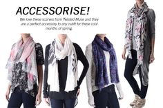 Love these long scarves!