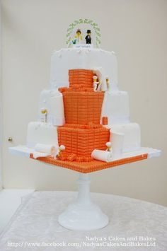 the most awesome cake ever! i'll make a few alterations... but yea.... lego wedding cake... awesome.