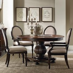 Shop for the Hooker Furniture Eastridge Round Pedestal Dining Table Set at Dunk & Bright Furniture - Your Syracuse, Utica, Binghamton Furniture & Mattress Store Dining Room Furniture Sets, Hooker Furniture, Dining Room Sets, Fine Furniture, Dining Room Design, Dining Room Table, Table And Chairs, Side Chairs, Room Chairs
