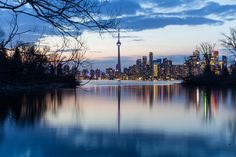 Canada Toronto River Evening Wallpaper