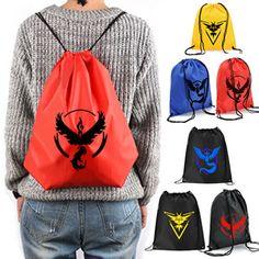 Pokemon Go Women Bags Backpack School Shoulder Bag Rucksack Canvas Travel bags…