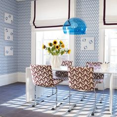 Esszimmer Wohnideen Möbel Dekoration Decoration Living Idea Interiors home dining room - Blau geometrischen Esszimmer