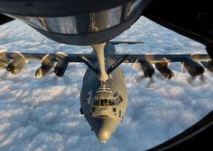 An MC-130J Commando II receives fuel from a KC-135R Stratotanker during a training sortie in support of Emerald Warrior 17 March 7, 2017. Emerald Warrior is a U.S. Special Operations Command exercise during which joint special operations forces train to respond to various threats across the spectrum of conflict. The MC-130J is assigned to the 9th Special Operations Squadron and the KC135R is assigned to Ohio Air National Guard's 121st Air Refueling Wing. (U.S. Air National Guard photo/Se...