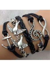 Metal Birds Decoration Woman Bracelets for Work