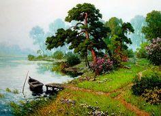 Живопись корейских художников. Пейзажи....