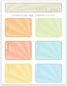 "FREE Download: ""This Year..."" Journaling Cards @ Write. Click. Scrapbook."