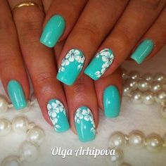 25 Delicate Flower Nail Designs Adding Lovely Blooms To Your Fingertips! The post 25 Delicate Flower Nail Designs Adding Lovely Blooms To Your Fingertips! appeared first on Nail Design. Flower Nail Designs, Best Nail Art Designs, Flower Nail Art, Nail Designs Spring, Beautiful Nail Designs, Turquoise Nail Designs, Nails With Flower Design, Turquoise Nail Art, Nail Flowers