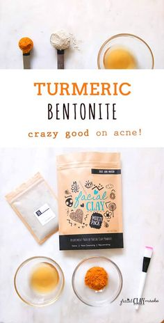 Bentonite Turmeric Mask that's Crazy Good on ACNE Acne busting, super detoxing face mask that will leave your skin glowing for days. Combine the anti oxidant benefits of turmeric and the detoxing effects of bentonite clay for one of my favorite masks Turmeric Detox, Turmeric Face Mask, Skin Care Masks, Oily Skin Care, Skin Mask, Face Skin, Mascarilla Diy, Bentonite Clay Mask, Clay Face Mask