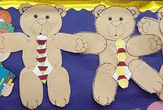 Letter B ideas:  teddy bear picnic, patterned tie