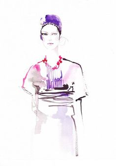 See related links to what you are looking for. Watercolor Fashion, Watercolor And Ink, Illustration Fashion, Fashion Illustrations, Lily, Drawings, Watercolors, Walls, Artists