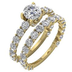 e8381f6d942 Details about Bridal Engagement Ring Set I1 G 2.70Ct Natural Diamond 14K  Yellow Gold Prong Set
