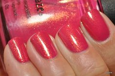 My October polish: China Glaze Strawberry Fields! Neon Nail Polish, China Glaze Nail Polish, Nail Polish Colors, Opi Polish, Nail Polishes, Nail Art Studio, Make Up Your Mind, Strawberry Fields, Nail Polish Collection