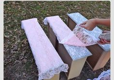 Lace And Spray Paint! DIY Decorating :)