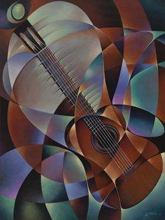 Dynamic Guitar Painting - Dynamic Guitar Fine Art Print