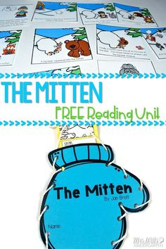 The Mitten Reading Comprehension unit for kindergarten. Making predictions, retelling, making connections, and opinion writing focus lessons are included in this free unit. A craft makes this extra fun! via @deedee_wills