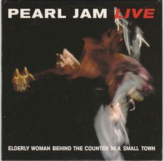 PEARL JAM LIVE Elderly woman behind RARE 1998 SPANISH 1 TRACK PROMO CD NMINT